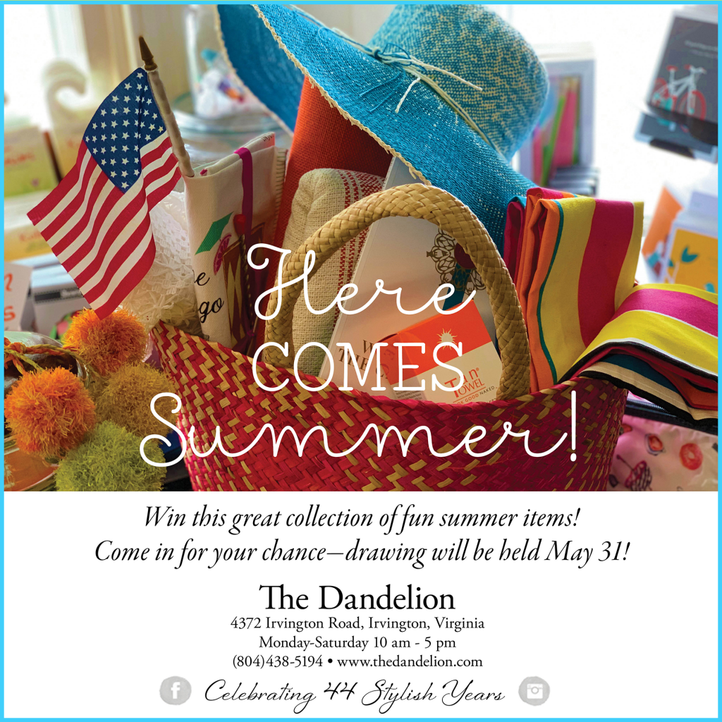 Here Comes Summer! Win a great collection of fun summer items! Come in for your chance - drawing will be held May 31!