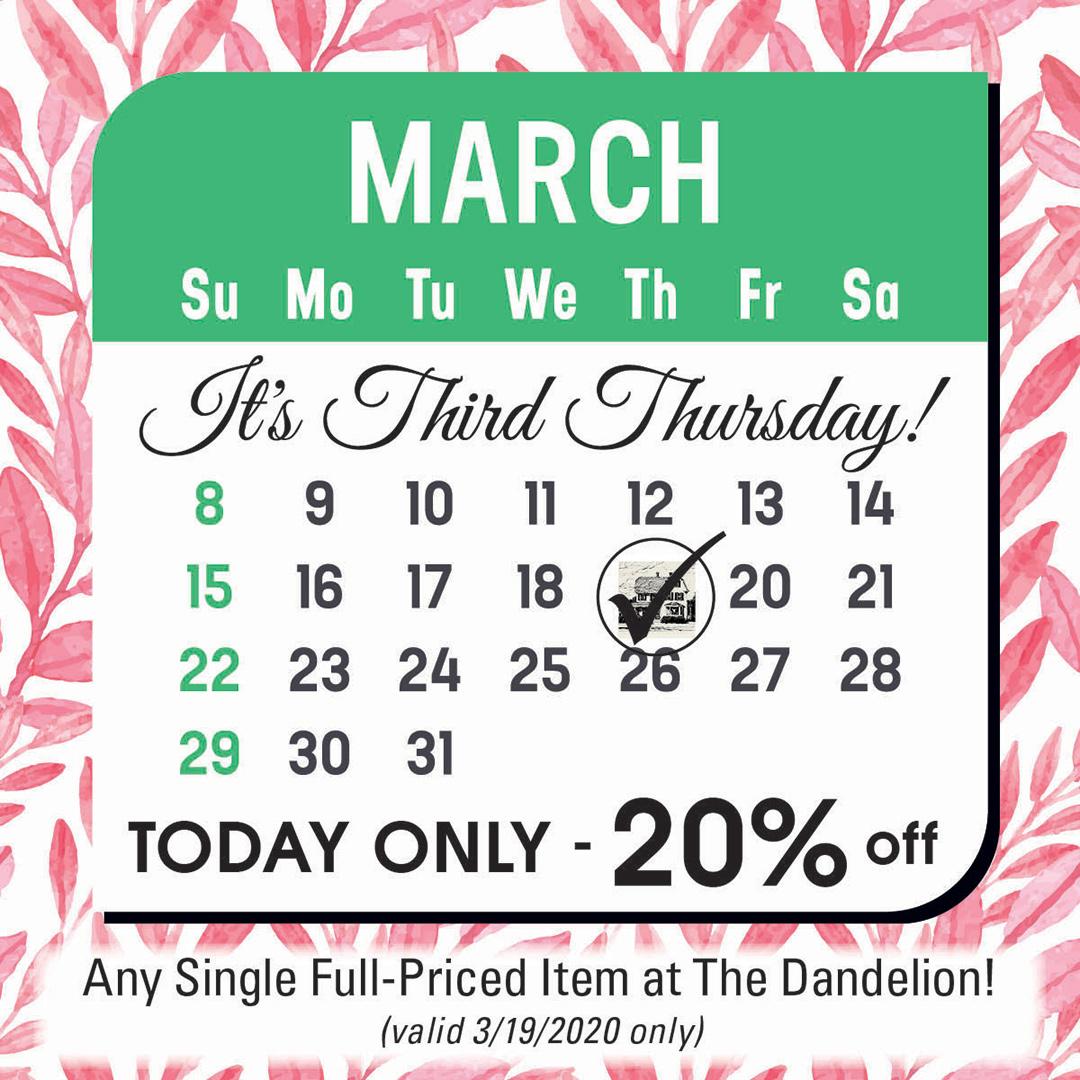 The Dandelion 3rd Thursday